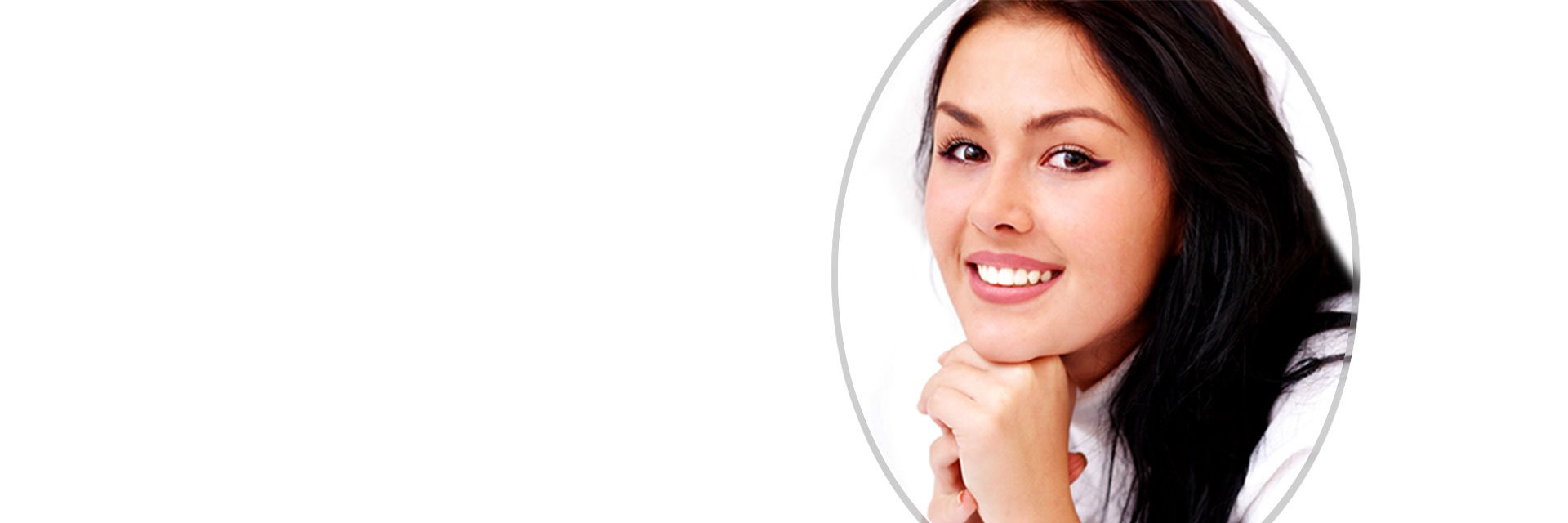 banner happy girl smiling discover dental
