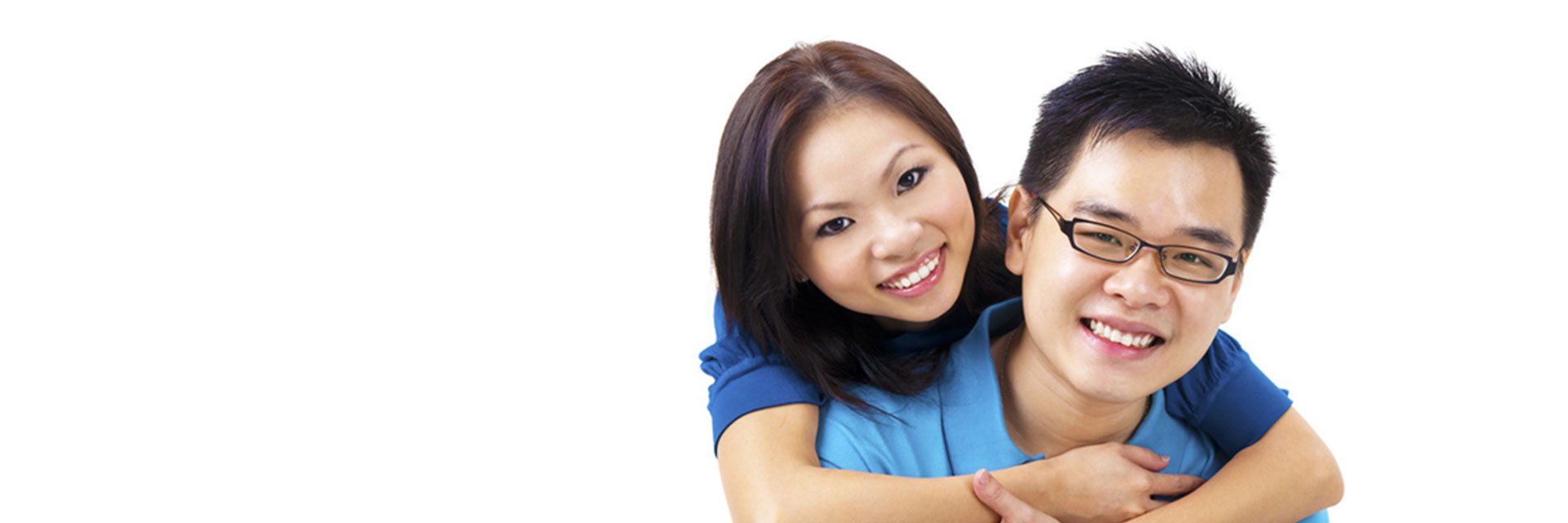 banner happy couple discover dental